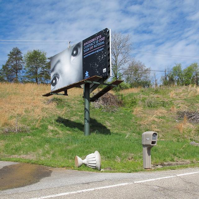 West Virginia roadside autism education.
