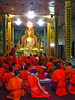Evening prayers, Wat Luang