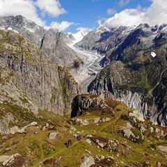 sortie VTT avec vue sur le glacier d'Aletsch ...