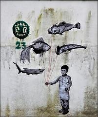 poésie sur le mur