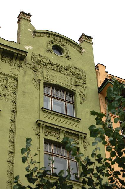 Apartments built in 1903, on Senovazne Namesti, Prague