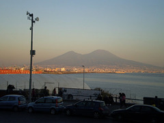 Naples Bay and Vesuvius.