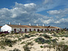 Former fishermen's cottages, Barril Beach, Eastern Algarve, Portugal.