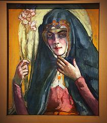 Portrait de femme - Huile sur toile de Konrad Mägi ( Estonie )