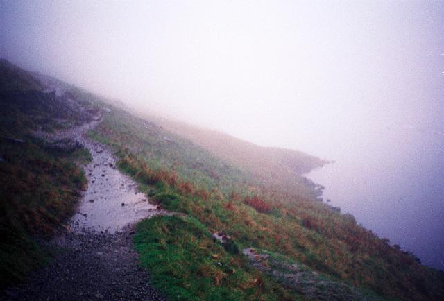 Alongside Grisedale Tarn (Scan from May 1990)
