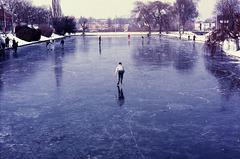 schaatsen op de Meezenbroekervijver 1985