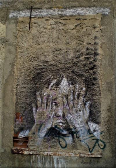 Street art by Rosarlette.