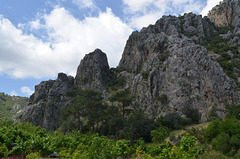 Cliffs above the Ancient Olympos