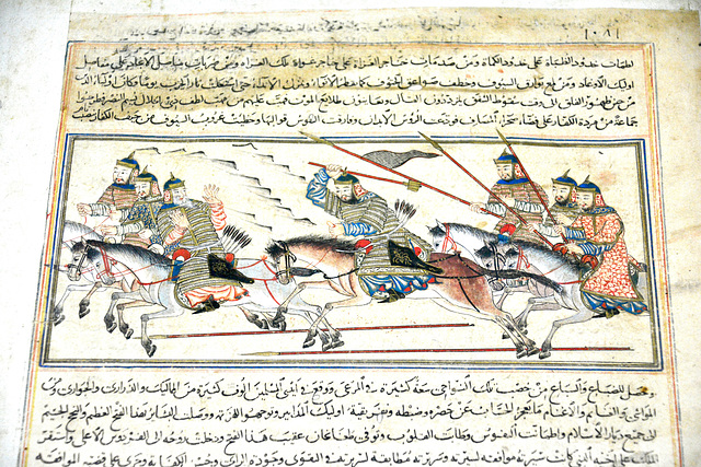 Nationaal Militair Museum 2017 – Genghis Khan exhibtion – Page from the Compendium of Chronicles