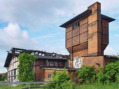 Schwerin, Wasserturm am Lokschuppen