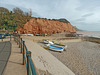 A beach and cliff scene at Sidmouth.