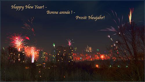 Happy New Year! - Bonne année ! - Prosit Neujahr!