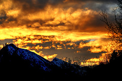 Birning clouds... ©UdoSm