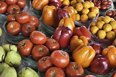 Tomatoes and Peppers – Marché Jean-Talon, Montréal, Québec, Canada