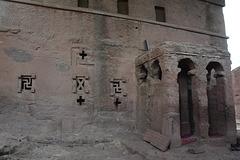 Ethiopia, Lalibela, The Entrance to the Bete Maryam (St.Mary) Church