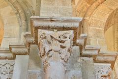 Vezelay, chapiteau, La vision de Saint Antoine