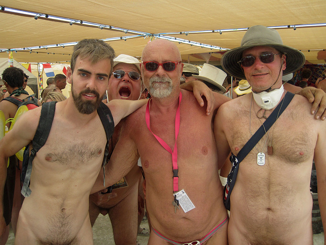 Ipernity Naked Pub Crawl Burning Man   By Rons Log