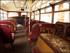 lower saloon of an old bus