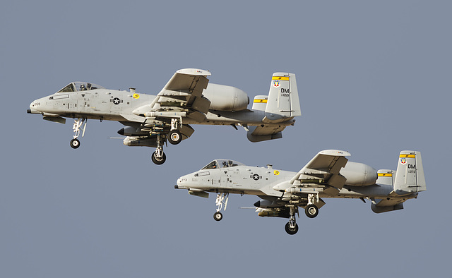 355th Fighter Wing Fairchild A-10C Thunderbolts 82-0659 and 80-0273