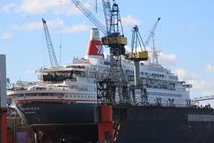 Kreuzfahrtschiff BOUDICCA im Dock