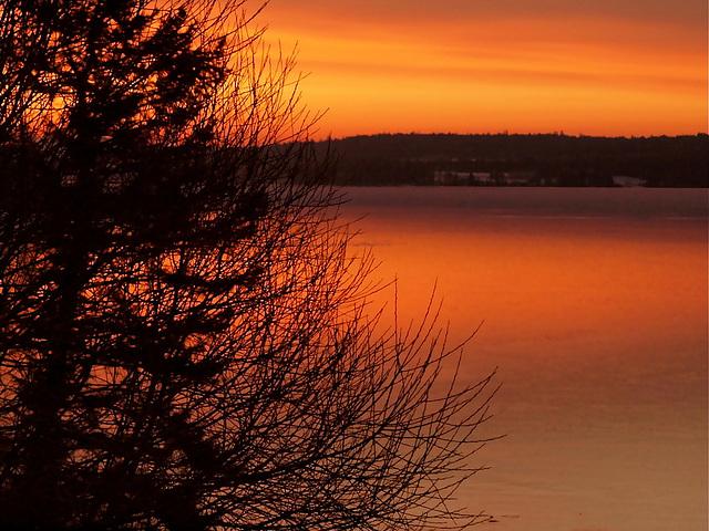 Sunrise at Lac La Hache, BC