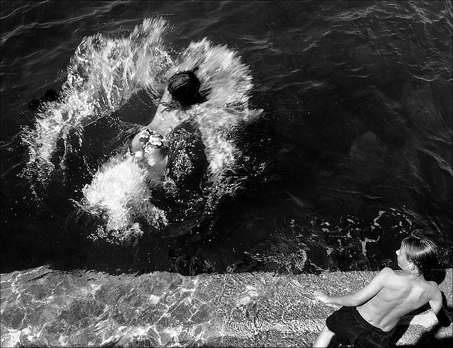 Les premiers plongeons…