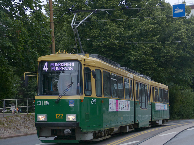 Helsinki Tram no. 122 - 1 August 2016