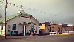 Apartments and a church