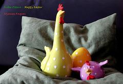 Frohe Ostern wünsche ich Allen