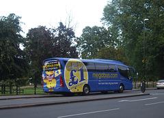 DSCF9525 Freestones Coaches (Megabus contractor) E11 SPG (YN08 JBX) in Cambridge - 19 Aug 2017