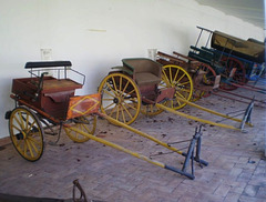 Horse-drawn gigs and wagon. HBM