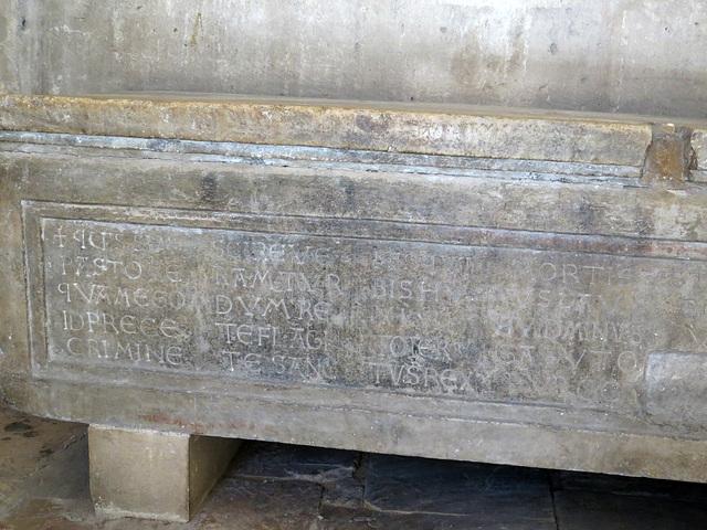 Temple de Jupiter : sarcophage chrétien.
