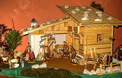 Christmas nativity scene before the 3-King's Day. ©UdoSm