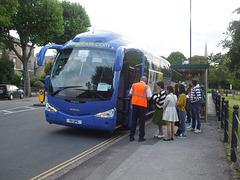 DSCF9523 Freestones Coaches (Megabus contractor) E11 SPG (YN08 JBX) in Cambridge - 19 Aug 2017