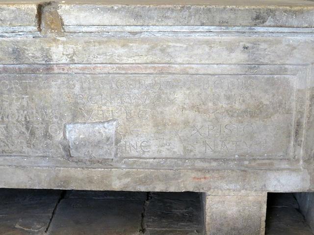 Temple de Jupiter : sarcophage chrétien, 2