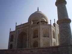 Taj Mahal and its southwest minaret.