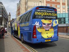 DSCF9334 Freestones Coaches (Megabus contractor) E11 SPG (YN08 JBX) in Birmingham - 19 Aug 2017