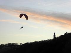 volare al tramonto
