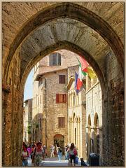 Memories of Tuscany: Archways of San Gimignano