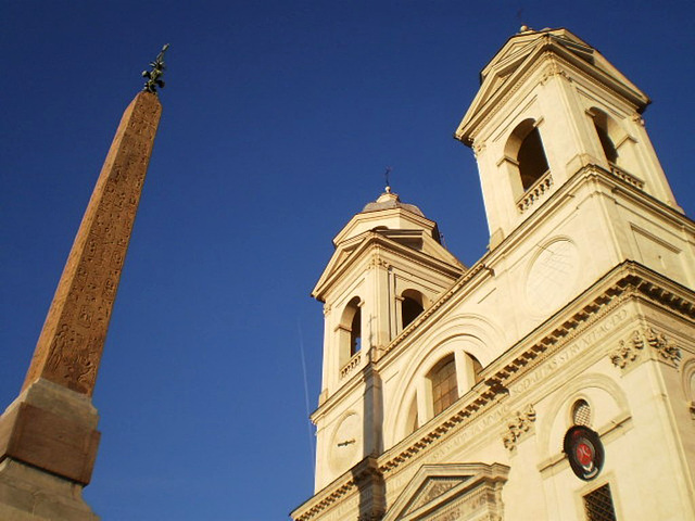 Church of Trinity of the Mounts and Sallust Obelisk.