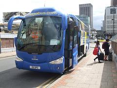 DSCF9333 Freestones Coaches (Megabus contractor) E11 SPG (YN08 JBX) in Birmingham - 19 Aug 2017