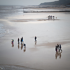 If Lowry did beaches- Cromer Sands at Christmas