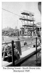 1929 Diving Tower South Shore Lido Blackpool - Pritchards family album