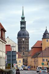 Turm der Sankt-Johanniskirche in Bad Schandau