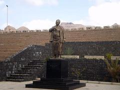 Cesária Évora statue.