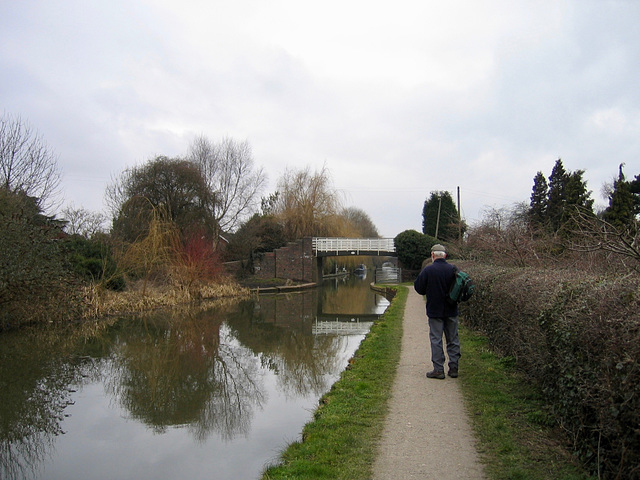 The Hodge Lane Footbridge on the Coventry Canal