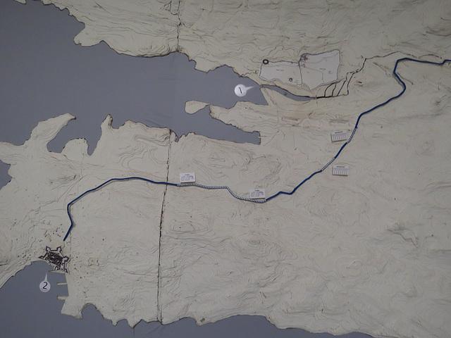 Sous-sols du palais de Dioclétien : plan du golfe de Split.