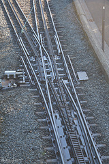 Weiche der Drachenfelsbahn - PiP