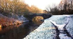 Leeds-Liverpool canal in Winter.