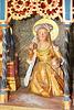 Kraak, Altar der Johanniterkirche, Heilige Frau mit Dose